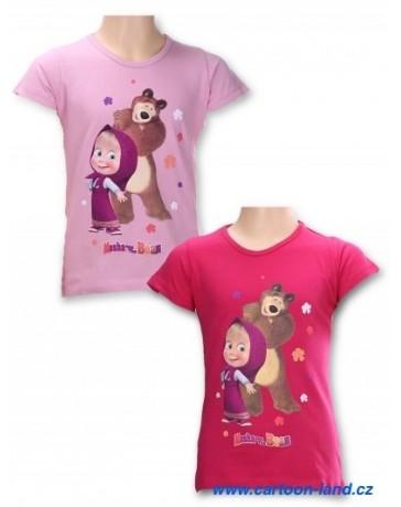 Dívči tričko Máša a medvěd