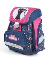 Školní batoh aktovka Premium Kočka