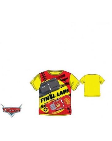 Dětské chlapecké tričko krátký rukáv žluté Cars Disney