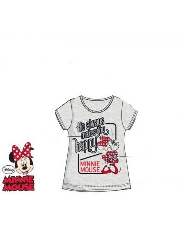 Dětské dívčí tričko šedé krátký rukáv Minnie Disney