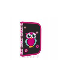 Penál 1 p. 2 chlopně, prázdný OXY Pink Owl