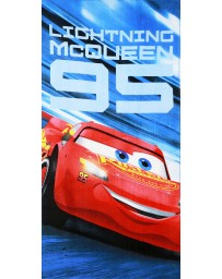 """Plážová bavlněná osuška chlapecká - """"McQueen"""" Cars - modrá - 70x140"""