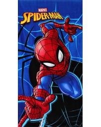 Marvel Chlapecká plážová bavlněná osuška Spiderman - modrá 70 x 140 cm