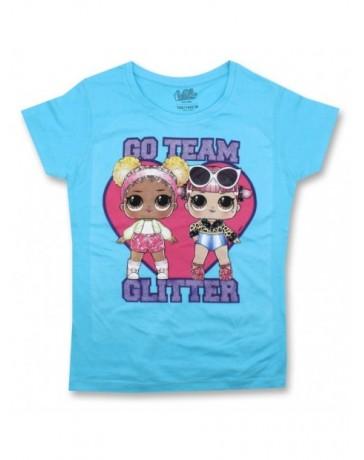 Dívčí tričko s krátkým rukávem L.O.L. Surprise GLITTER - modré