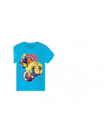 Chlapecké triko - SETINO Požárník Sam tyrkysové