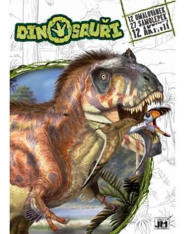 Omalovánky A4+ Dinosauř