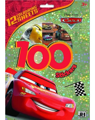 100 samolepek s omal. listy Auta Cars