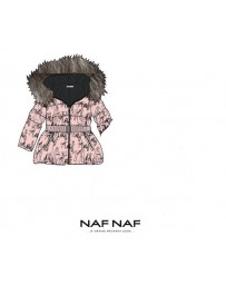 Dívčí dětská zimní bunda NAF NAF růžová