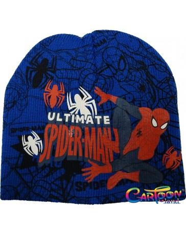 Čepice Spiderman zimní modrá