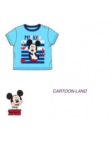 Dětské chlapecké tričko s krátkým rukávem baby Mickey Mouse modre