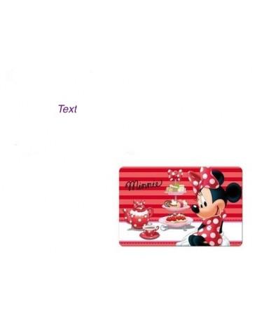 3D podložka s motivem Disney Minnie červená
