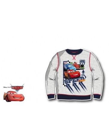 Dětská mikina svetr Cars Auta McQueen šédá