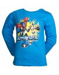 Dětské tričko Transformers dlouhý rukáv modré