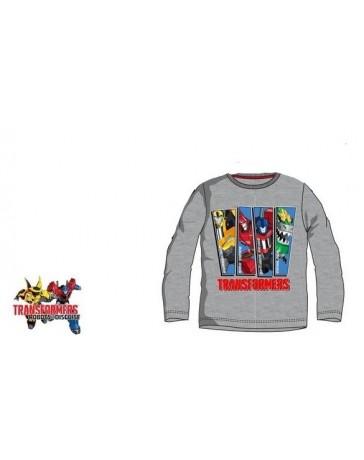 Dětské tričko Transformers dlouhý rukáv šedé