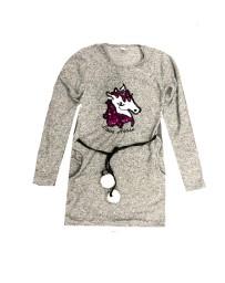 Dívčí šaty UNICORN - JEDNOROŽEC s měnícími flitry