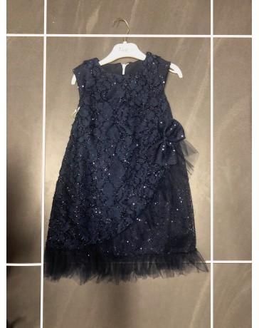 Dívčí šaty slavnostní modré