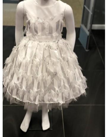 Dívčí šaty slavnostní bílí