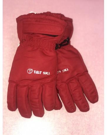 Lyžařské rukavice červené