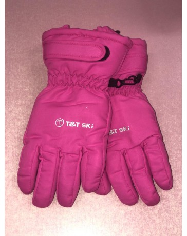 Lyžařské rukavice růžové