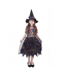 Dětský kostým čarodějnice barevná/Halloween