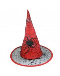 Klobouk čarodějnice červený pro dospělé