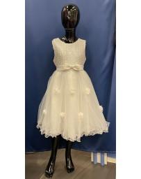 Dívčí šaty slavnostní bílé kitky