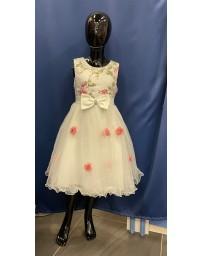 Dívčí šaty slavnostní růžové kitky