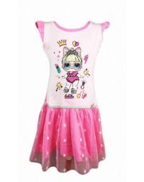 """SETINO Dětské šaty """"LOL"""" - světle růžová"""
