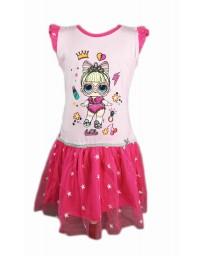 """SETINO Dětské šaty """"LOL"""" - tmavé růžová"""