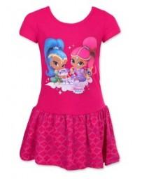 Nickelodeon Dívčí šaty Shimmer and Shine růžová