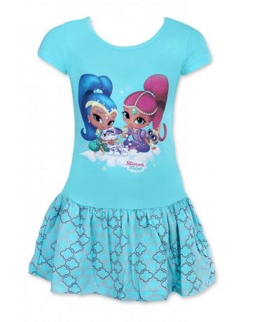 Nickelodeon Dívčí šaty Shimmer and Shine tyrkysová