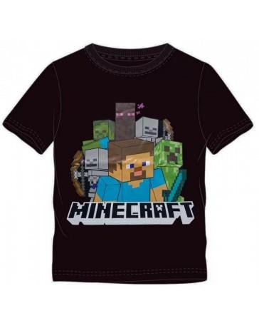 Dětské tričko Minecraft černé