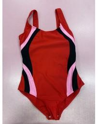 Plavky jednodilné červené