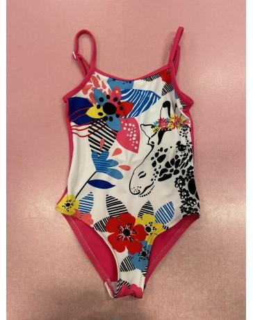 Dětské holčíčí plavky jednodilné žirafa Keyzi