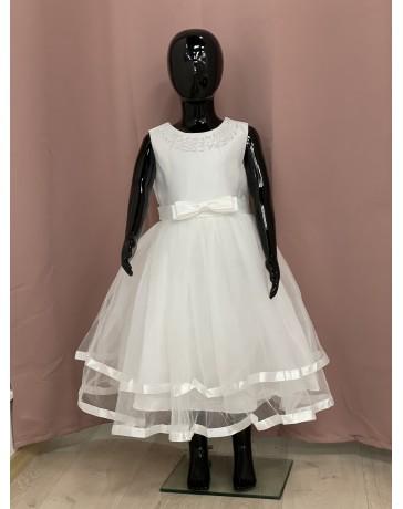 Slavnostní Svatební šaty bílé s koralky