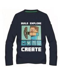 Minecraft tričko Steve Armor tmavě modré dětské