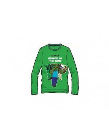 Minecraft tričko Beware of the dark zelené dětské