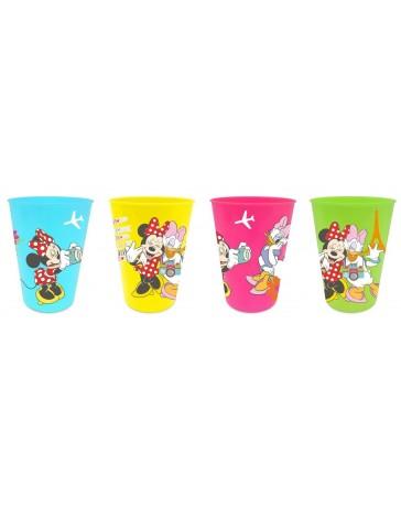 Sada 4 ks plastových skleniček Disney Minnie.