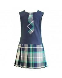 Dětské dívčí šaty modré Daga kratký rukáv